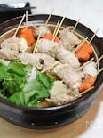 野菜たっぷり 豚巻き串鍋