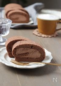 『フワフワ!米粉で作るチョコロールケーキ』