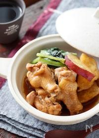 『鶏手羽元とさつまいもの甘辛煮【#作り置き#お弁当#簡単】』