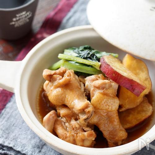鶏手羽元とさつまいもの甘辛煮【#作り置き#お弁当#簡単】