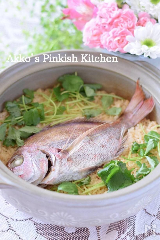 土鍋で炊き上げた料亭風本格鯛めし