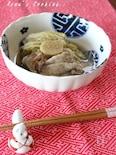 白菜と豚肉のほうじ茶煮