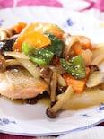 鮭と野菜の甘酢あんかけ