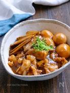 ごぼうと鶏肉と卵のこっくりとろみ煮