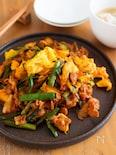 『豚キムチのふんわり卵炒め』ご飯に合う!まろやかな味わい♪