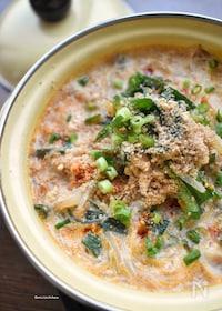 『炒めて煮込むだけ♡つゆまで旨し♡こく旨♡春雨豆乳坦々スープ♡』