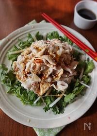 『春菊と茹で豚の香味サラダ』