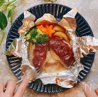 包み焼きチーズインハンバーグ☆子供が一人で作れちゃう!