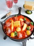 ポークボールのパルミジャーノ・トマト煮込み