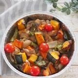 運動会のお弁当に。鶏肉と野菜のぎゅうぎゅう焼き