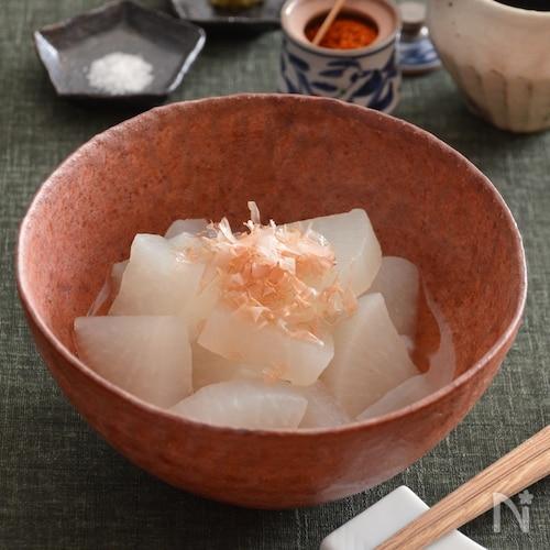 レンジ10分!だし大根。ほっとする和風味。ポン酢や柚子胡椒で