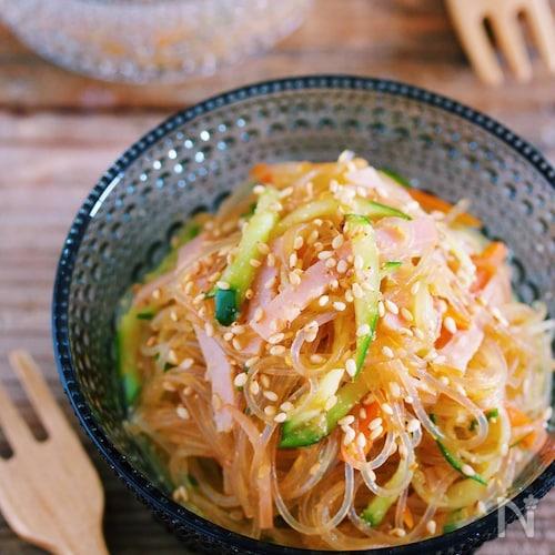 レンジ&ワンボウル『お惣菜屋さんのあの味♡中華風春雨サラダ』