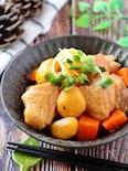 ほっくりホクホク♡冷凍栗と鶏もも肉のうま煮