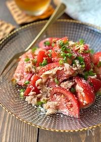 『ガーリック香る♪トマトとツナのこく旨サラダ』