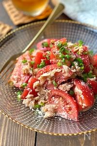 ガーリック香る♪トマトとツナのこく旨サラダ