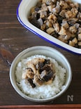茄子とお揚げの味噌炒め常備菜。