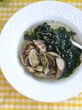 あさりと生わかめの春スープ