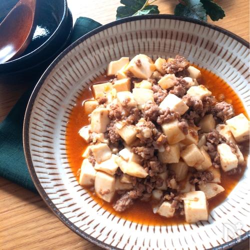 5分あればできちゃう・めちゃめちゃ美味しい♡長芋と豆腐の麻婆