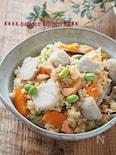 【むくみ予防・ダイエットに】里芋と鮭の炊き込みごはん