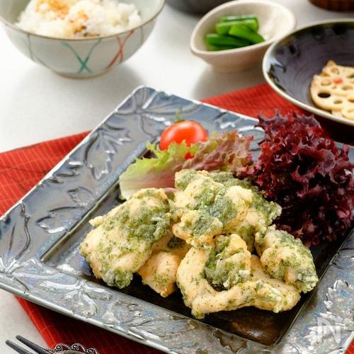 お弁当にも☆鶏胸肉のノリ塩卵白天!