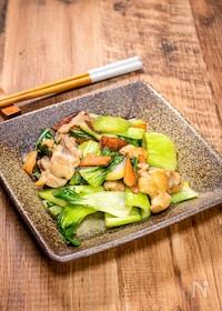 『鶏肉と青梗菜の炒め物』