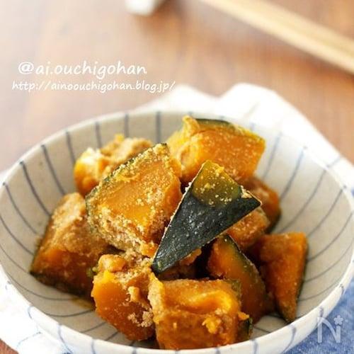 作り置き*お弁当にもおすすめ♡ほっこりかぼちゃのごま煮♡