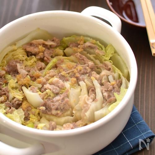白菜と豚肉の鍋蒸し