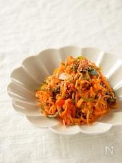 切り干し大根と彩り野菜のキムチ炒め