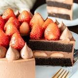 特別な日に♡チョコたっぷり!いちごのチョコショートケーキ