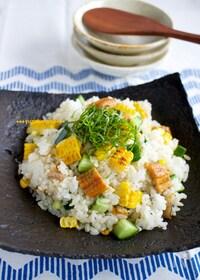 『焼きとうもろこしとあなごのちらし寿司』