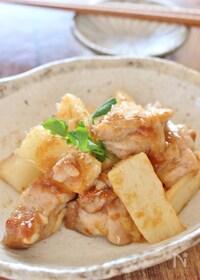 『鶏肉と長芋の梅肉炒め』