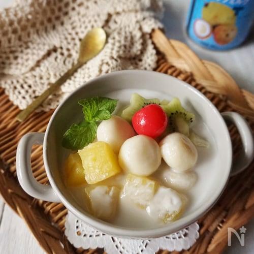 ココナッツミルクのアジアン白玉