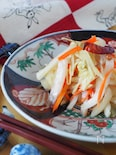残りがちな白菜の芯活用*白菜の芯で中華風漬物【辣白菜】