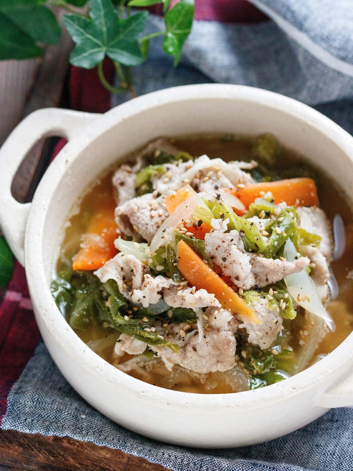 スープ ガラ 白菜 鶏