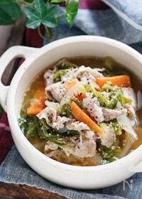 『とろとろ白菜のうま塩スープ【#冷蔵庫のお掃除#おかずスープ】』