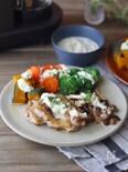 <BRUNO>ホワイトガーリックソースの温野菜とチキンソテー