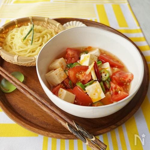 冷たい麻婆豆腐風つけ麺