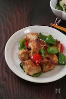 【下味調理】鶏むね肉がしっとり。マヨチキンとピーマン炒め
