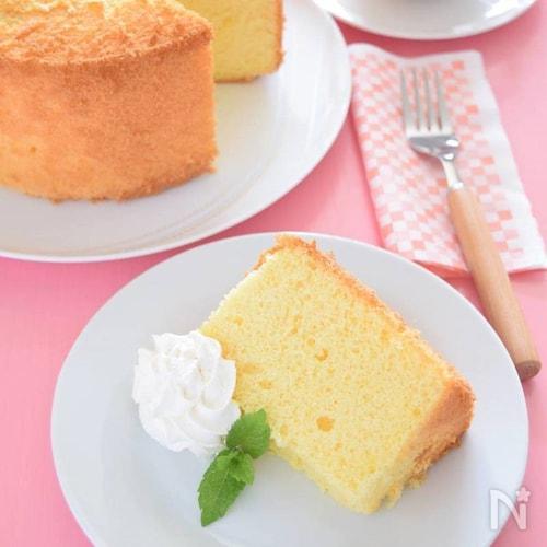 プレーンシフォンケーキ ほんのりレモンカラーがポイント!