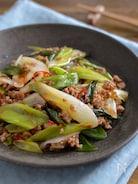 豚ひき肉と長ねぎのポン酢炒め。ご飯が進む!簡単ピリ辛おかず♪