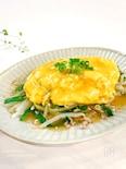 【ほぼ5分】簡単‼︎野菜たっぷり♡ひき肉ともやしの卵あんかけ