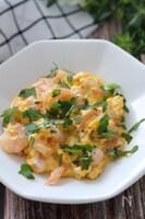 包丁不要で3分♡むき海老とふわふわ卵のマヨポンソテー