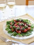 トマトとタプナードのタパス