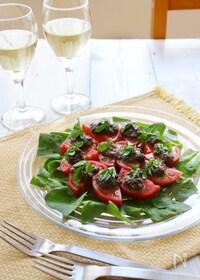 『トマトとタプナードのタパス』