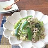 野菜たっぷり和総菜☆キャベツとピーマンのゆかりバターソテー
