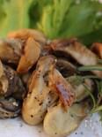 牡蠣のガーリックソテー