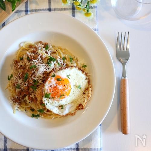 【大絶賛!】ツナと納豆の簡単パスタ
