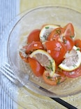 トマトのうま塩レモンマリネ【作り置き】