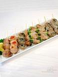 宅飲みに♡魚焼きグリルde簡単‼︎豚バラの串焼き