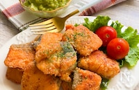 鮭のバター醤油焼き(アボカドディップ)